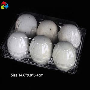 Eggs tray 6 packs clear plastic egg cartons