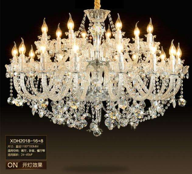 Modern wedding luxury hanging candle light with crystal chandelier