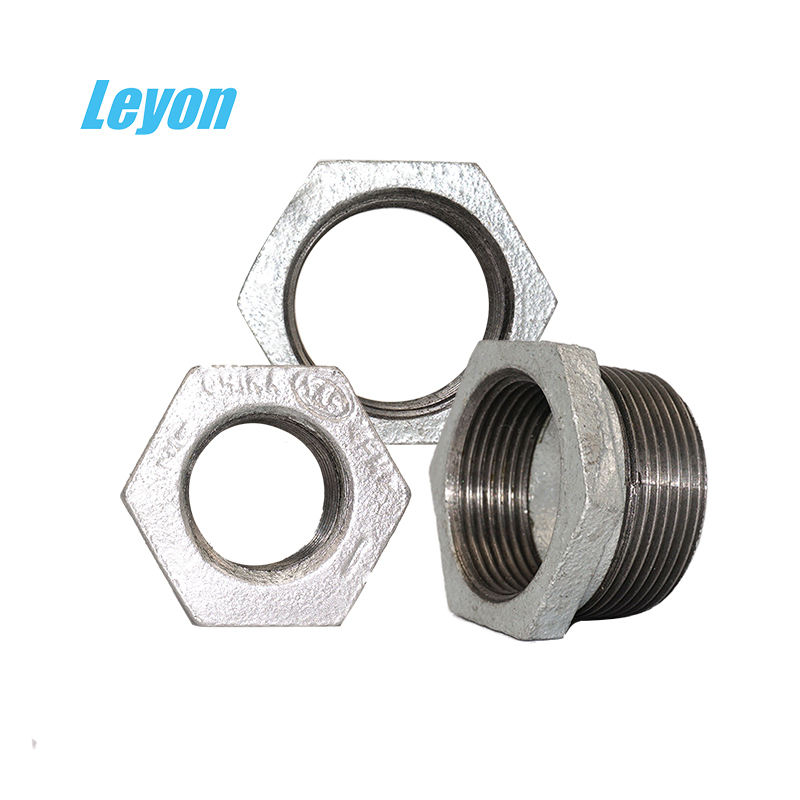 "BSPT Thread GI Hex Bushing Pipe Fiittings Malleable Iron Nipple/Bushing/Union/Elbow 11/2"" Malleable Bushing For Water System"