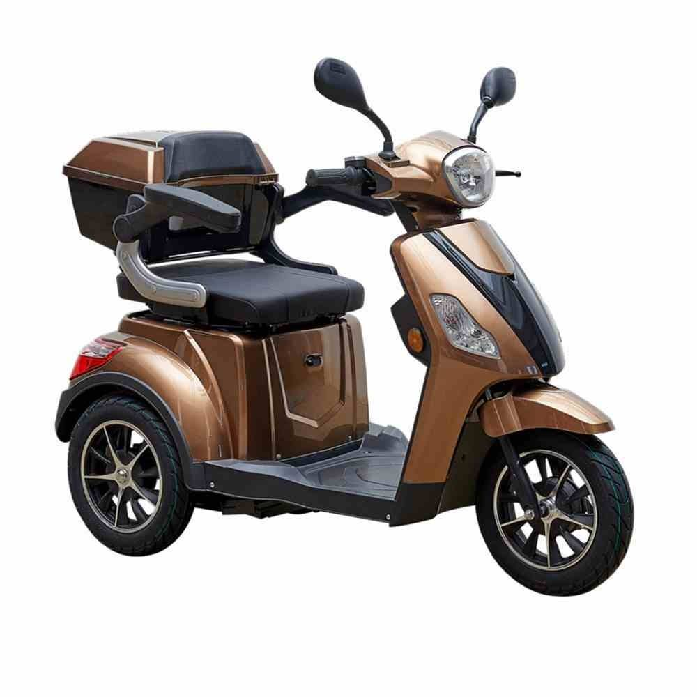 EEC CE 3 wheel electric scooter for travel, airport, elderly, disabled sunrise