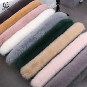 Custom size 및 색 real fur collar 도매 fox fur trim 대 한 women winter coat