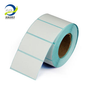 (PHOTOS)Wholesale Blank White Direct Thermal Barcode Paper Labels Sticker Rolls for Desktop Printer