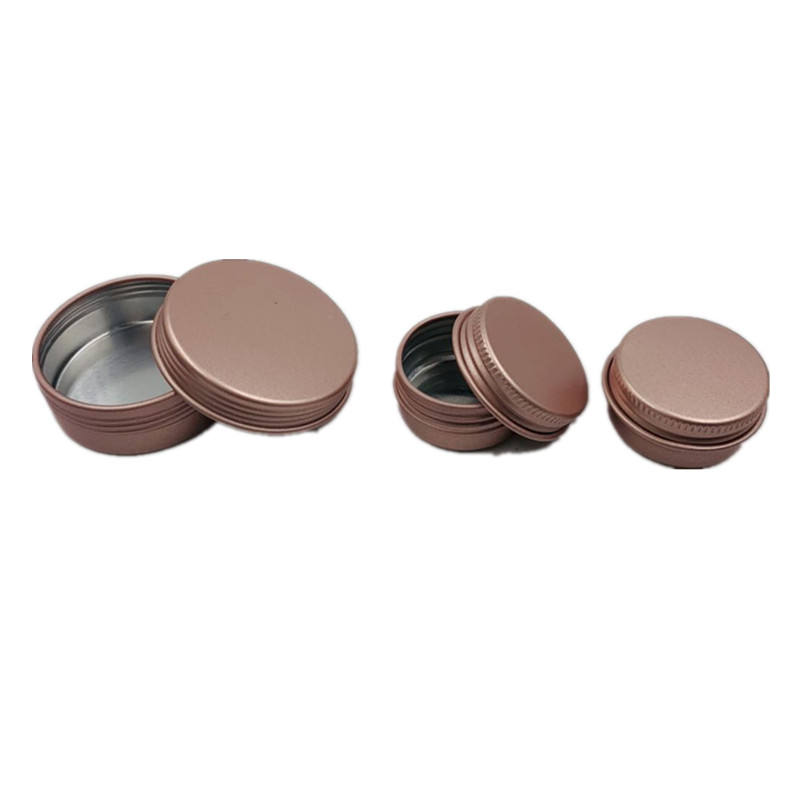 10g 20g Special customized rose gold black aluminum tins for cosmetic / Small cosmetics aluminum tin cans for lip balm / Soap