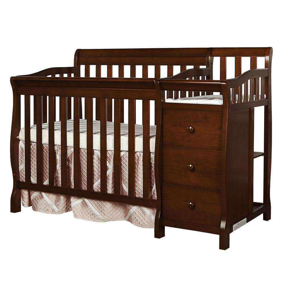 Luxury natural color solid wood baby cribs