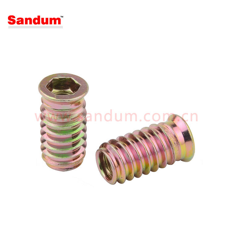 Flange Hex Drive Head Furniture Nut flanged threaded inserts 6mm thread