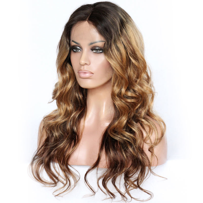BEST Selling Free Shipping Fast Top Quality 100% Unprocessed Human Hair Ombre Blonde Lace Front Wig