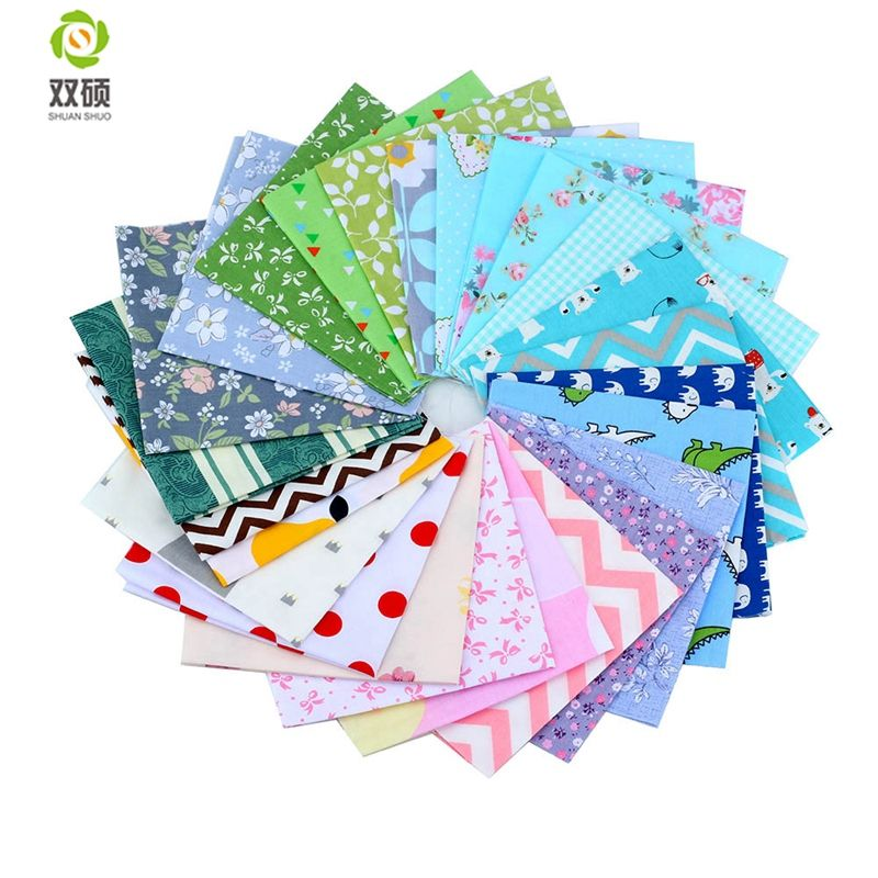 Colorful Charm Packs Patchwork Cotton Fabric No Repeat Design Sewing Fabric For DIY Quilting Sewing