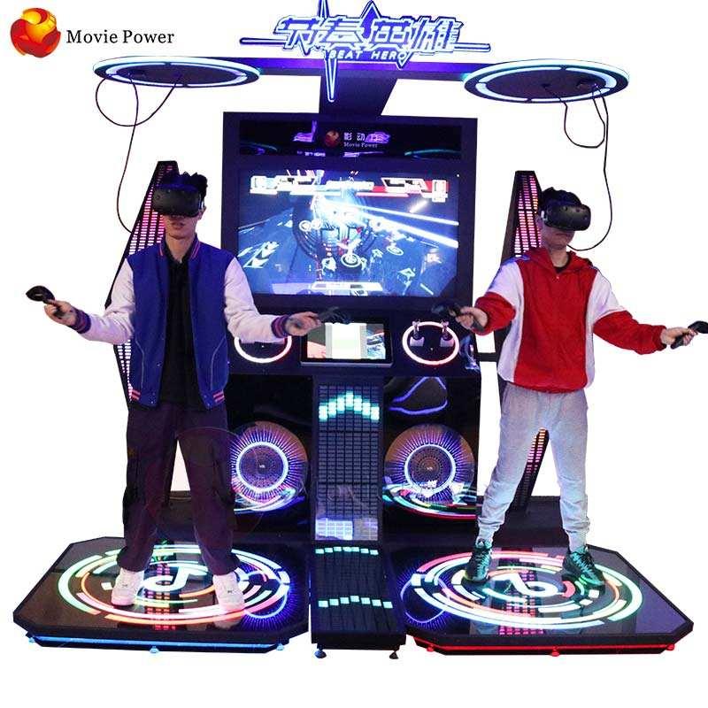 VR Park 9D VR Oyun Sistemi Interaktif Oyunu Çocuklar ve Yetişkinler için Sanal Gerçeklik Fantastik Dans Hareket Simülatörü