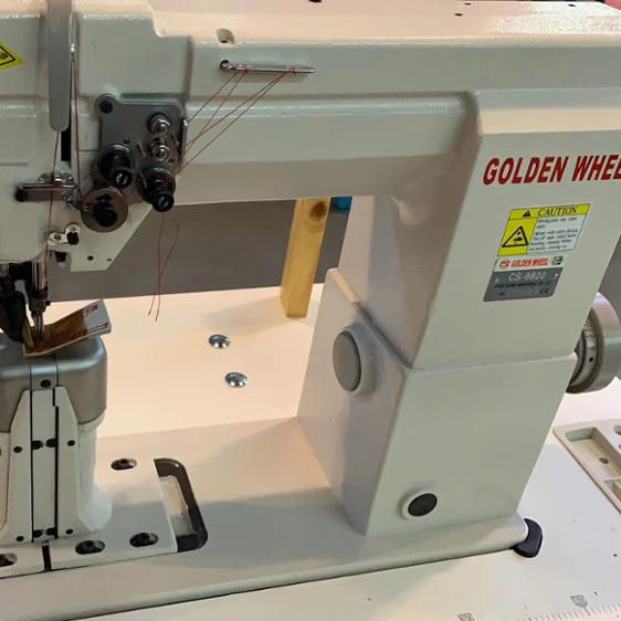 Golden wheel CS-8820 Double needle postbed roller feeding shoes sewing machine