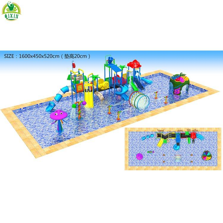 Hot holiday water park design and construction hotel water park equipment outdoor pool water slides equipment for kids QX-S019