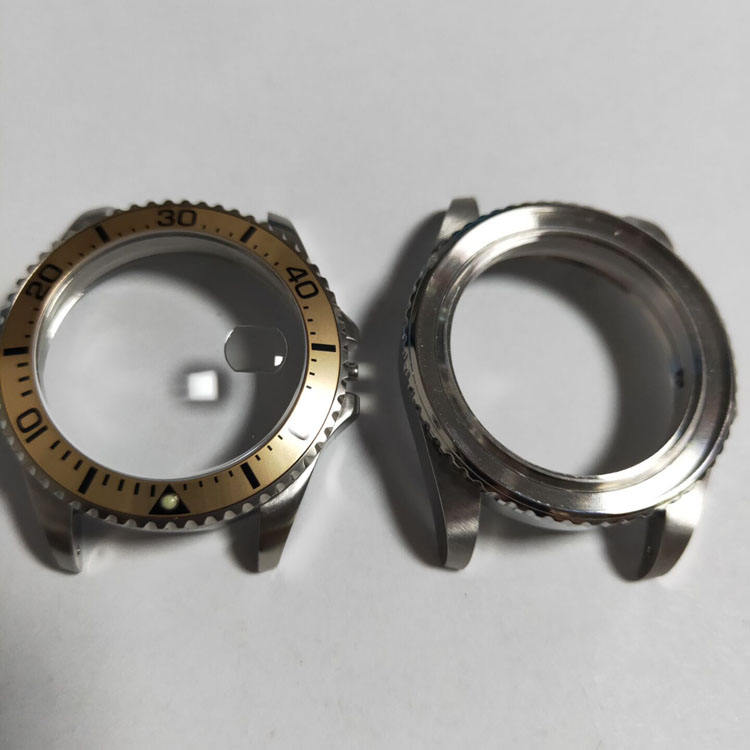 High Quality 316L Stainless Steel Watch Case Parts With Ceramic Bezel for Dive Watch