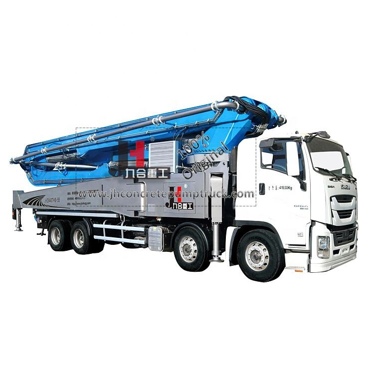 High quality 56 meter remote control concrete pump truck price for sale