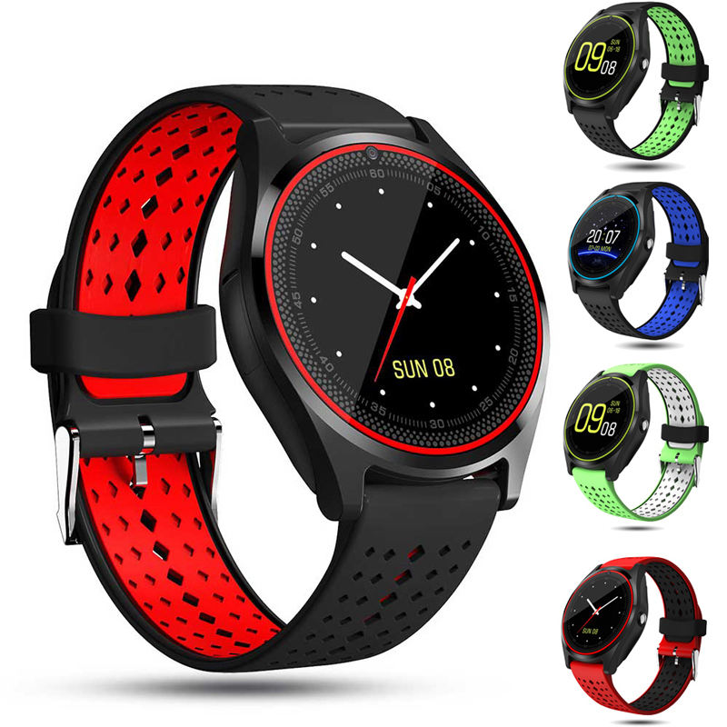 2019 Cheap smartwatch V9 smart watch with Calories sleep monitoring Remote control camera watch