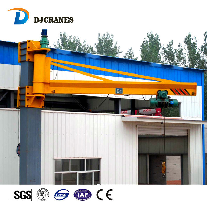 BX Tipe 1 Ton Swing Arm Wall Mounted Jib Crane dengan Electric Hoist