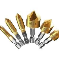 6 PCS  Drill Bit Wood Countersink Drill Bit Set