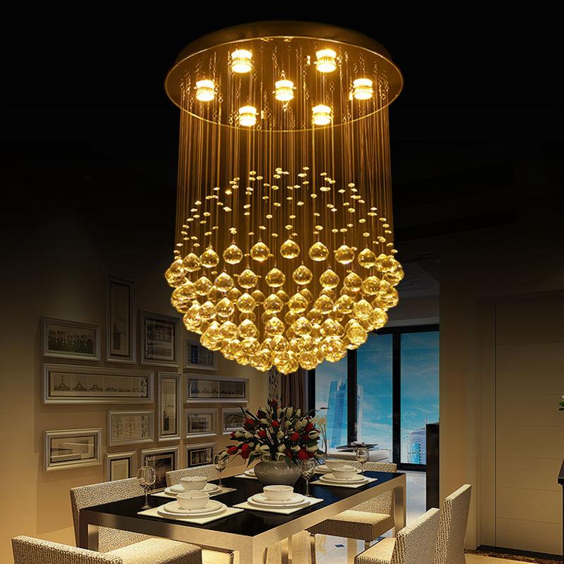 인테리어 장식 펜 던 트 빛 Fixture Art Decor Asfour K9 Crystal 볼 Avize 샹 들리 및 램프