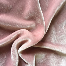 Hot sale micro silk velvet fabric pink for apparel fabrics