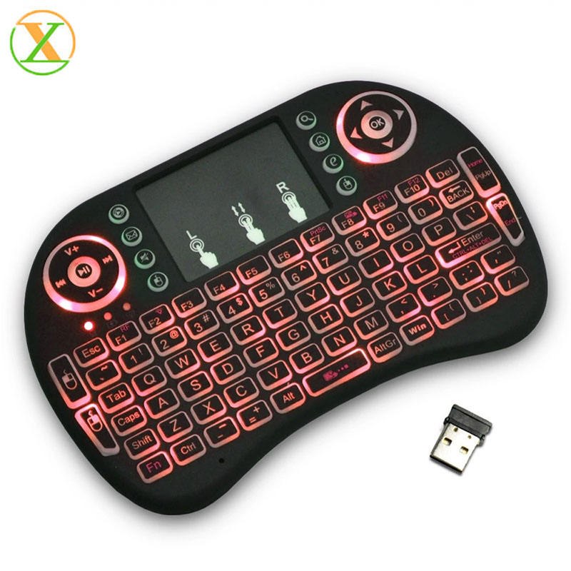 Top selling mini wireless keyboard i8 backlit remote control tv backlight 2.4G keyboard for smart tv box
