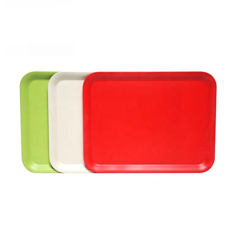 OEM размеры современный сервировочный Лоток Оптовая Продажа Чистый цвет кухня интимные <span class=keywords><strong>аксессуары</strong></span> меламин пластик еда