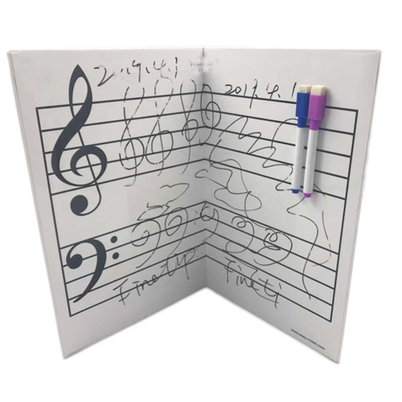 Reusable Double-sided Strong Magnetic Music Staff Lines Dry Erase Student Lap Board Music Notation Whiteboard