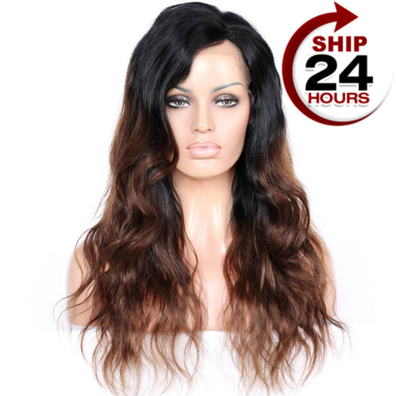 <span class=keywords><strong>Rihanna</strong></span> — perruques Lace Wigs, perruque naturelle avec raie sur le côté, <span class=keywords><strong>cheveux</strong></span> brun ombré chocolat