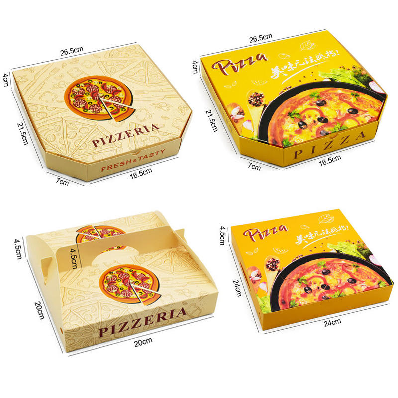 "China Wholesale Custom Gedrukt Pizzadoos Golfkarton En Gecoat 8 ""9"" 10 ""12"" 14 ""18"" Inch Pizza Dozen Fabrikant"