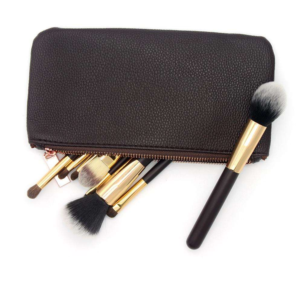Custom <span class=keywords><strong>PU</strong></span> <span class=keywords><strong>Cosmetische</strong></span> Brush Case Leather Make Up Organizer Brush Bag