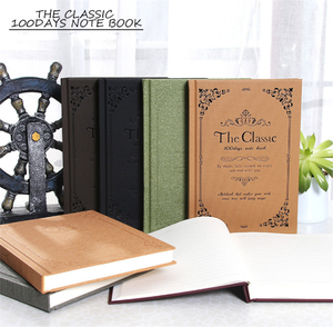 Classic European Style Vintage Diary Notebook Notepad Retro Journal Business Memory Hard Cover Note Book Stationery Gift