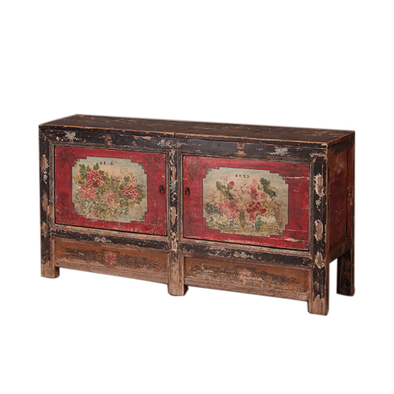 Cheap price antique buffet painting furniture