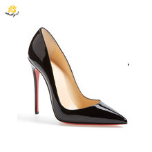 G1904017 Chinese Heel Shoes Maker Black High Heels Pumps Shoes For Lady Stiletto Shoes Women Heels