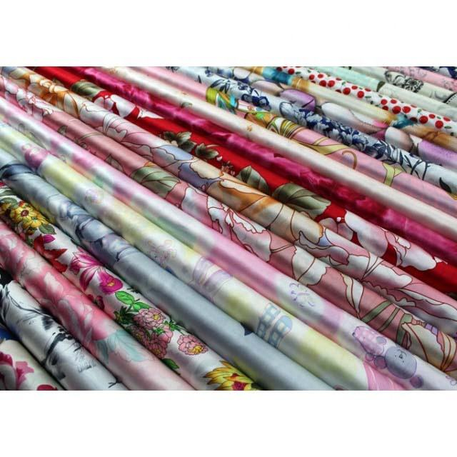 OEM RTS 100% Silk Customized Digital Printed Fabric for Printing Clothing Fonesun-SK031
