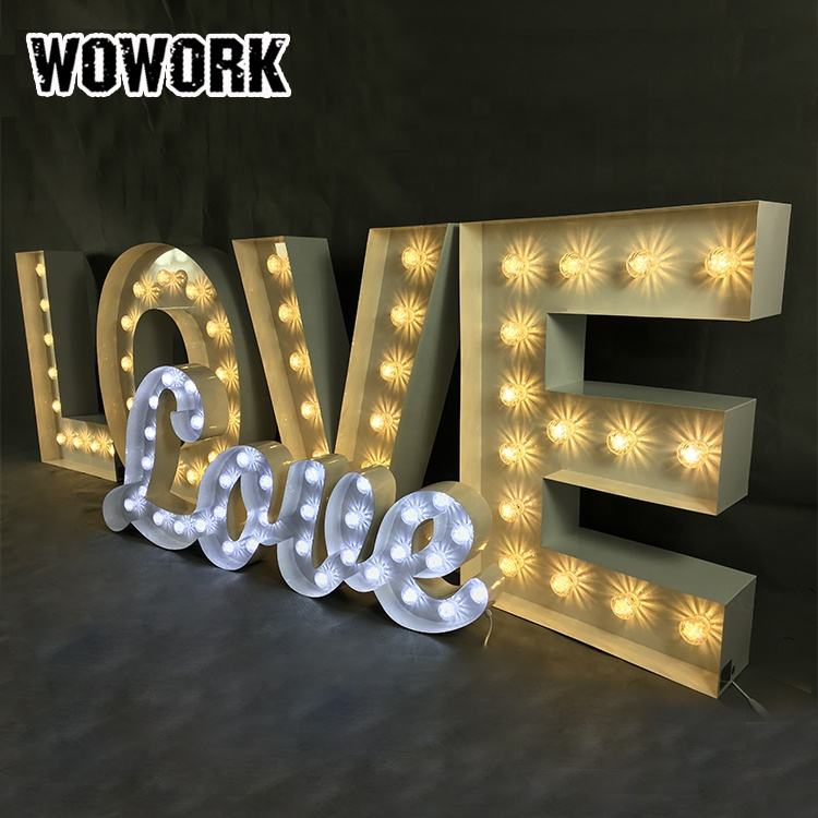 WOWORK fushun DIY Gift Use marquee light weddings events decorative channel led big letters for party supplies