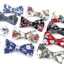 China Selling Luxury Floral Bow Tie Cotton Mens Bowtie