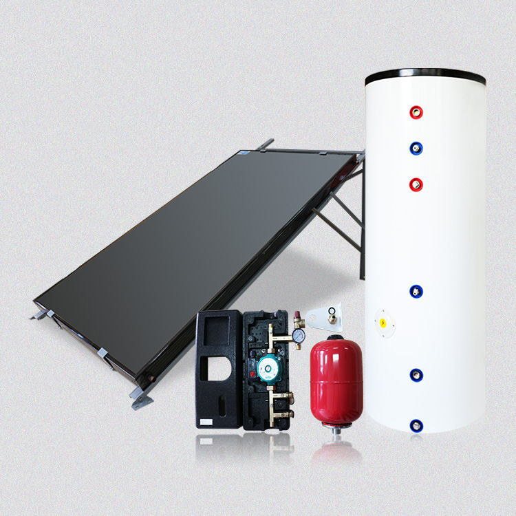 304/316/2205/2304 duplex stainless steel high quality 250l aluminum alloy frame solar water heater system
