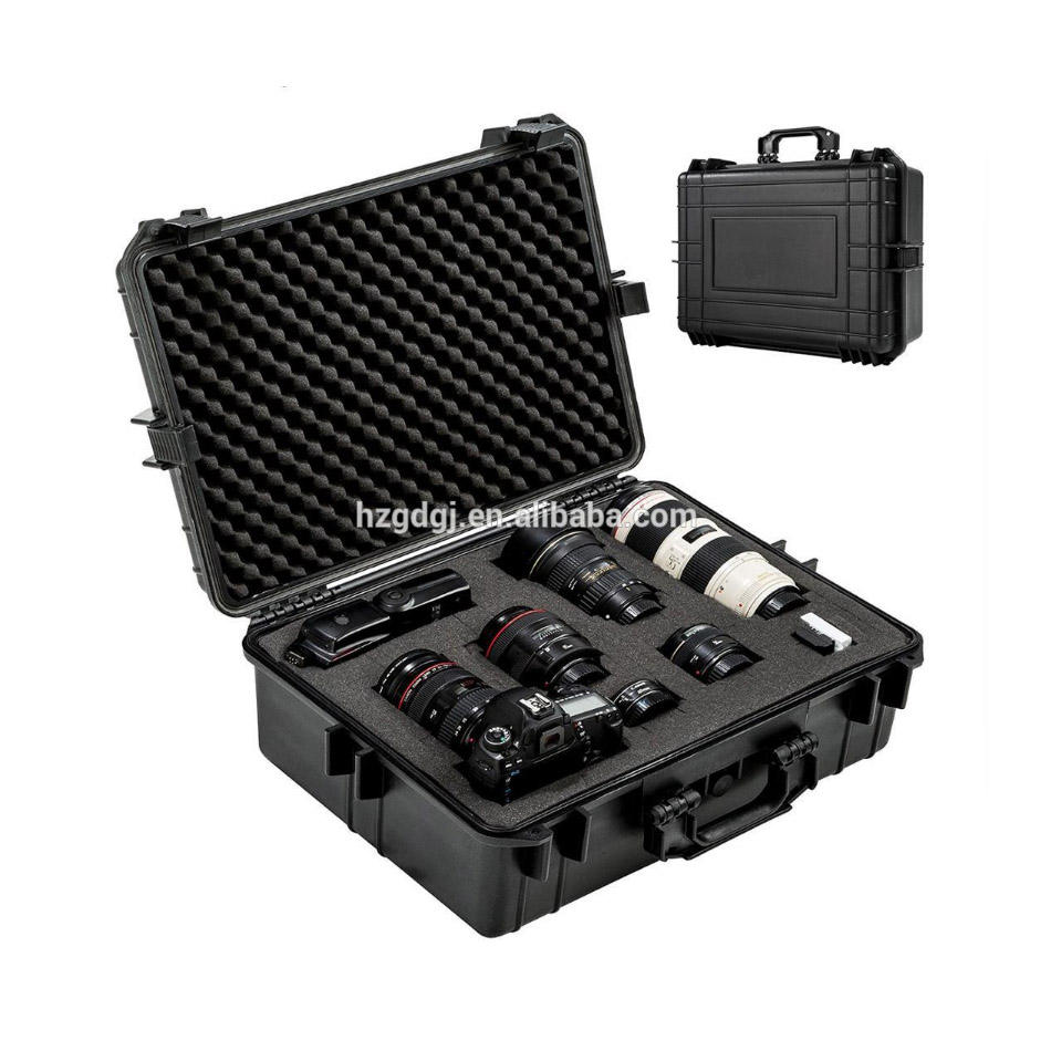 Custom color logo foam hard plastic water proof portable camera equipment instrument storage case