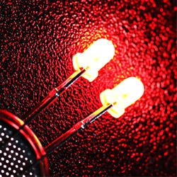 Wholesale High Quality Water Clear Flat Top Dip 3mm Red Flashing Led Diode