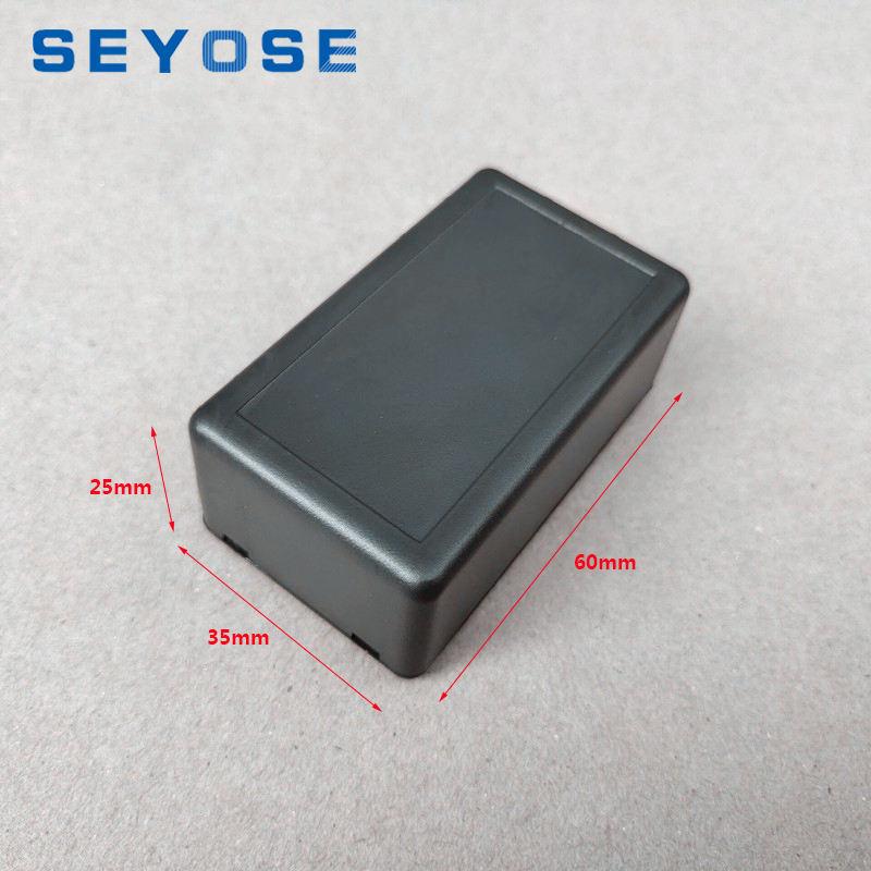 New 10pcs 60x35x25mm New Black Plastic Project Box Electronic Case
