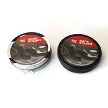 High quality black leather wax shoe polish