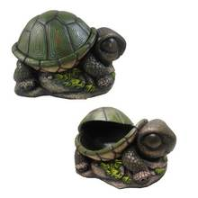 Cute Napping Turtle Secret Stash Outdoor Key Hider Or Indoor Trinket Box