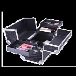 Custom Size Shining Black Color Aluminum Makeup Case for Beauty