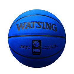 furry suede basketball blue colorful basketball wholesale composite leather cover street ball