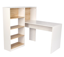 Multifunction Office Home Wooden Computer Desk Table White Office Table Furniture With Bookshelf