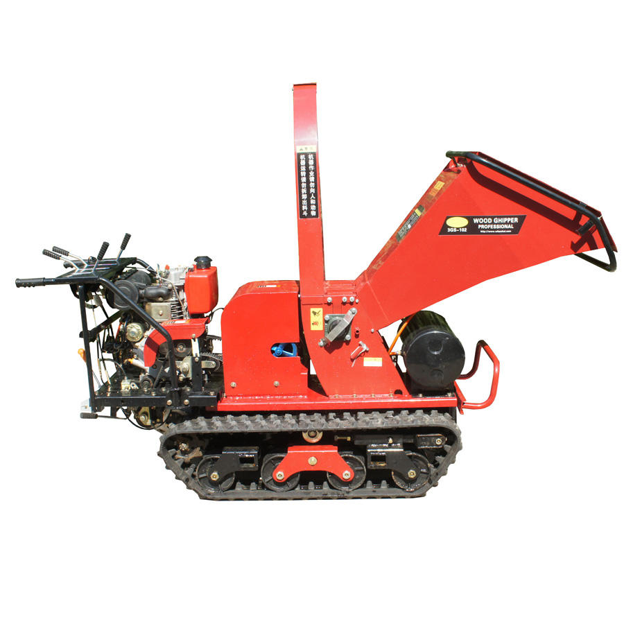 tree stump chipper with crawler