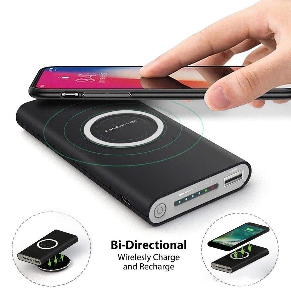 Universal lithium-batterie tragbare mobile power bank 10000 mah rohs schlanke wireless power für iphone für samsung