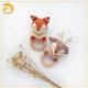 Baby teether weave animal wooden teether sensory toys