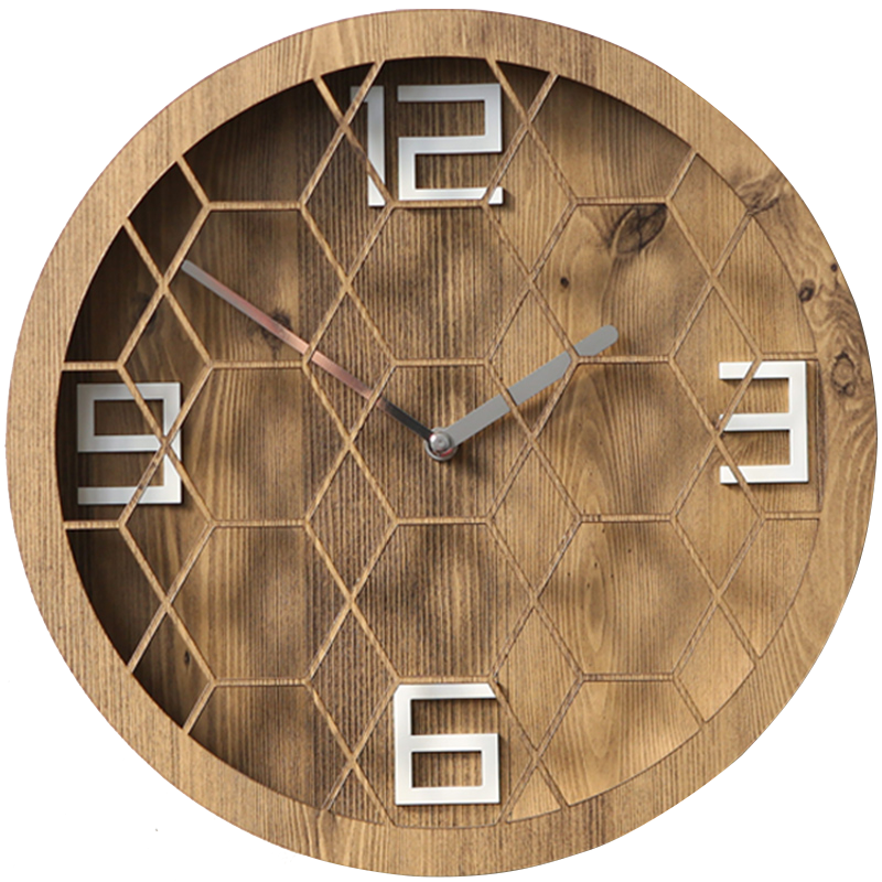 Special Wood Number MDF Wall Clock very popular for youngman Factory Price