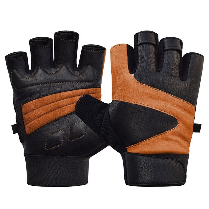 Manufacturer Custom Leather Weight Lifting Workout Fitness Gym Sport Gloves