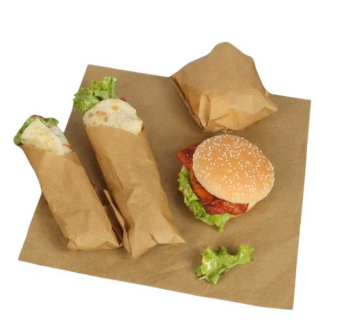 Stampato Pacchetto di cibo <span class=keywords><strong>Eco</strong></span> Friendly Panino Carta/Hamburger <span class=keywords><strong>Wrapper</strong></span>