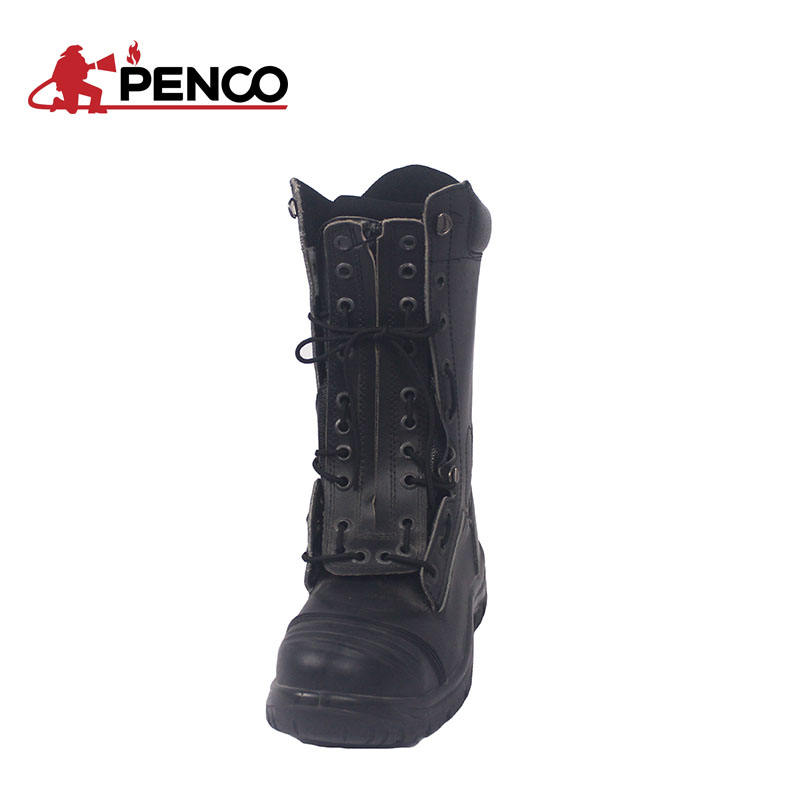 leather fire boots / steel toe boots for rescue