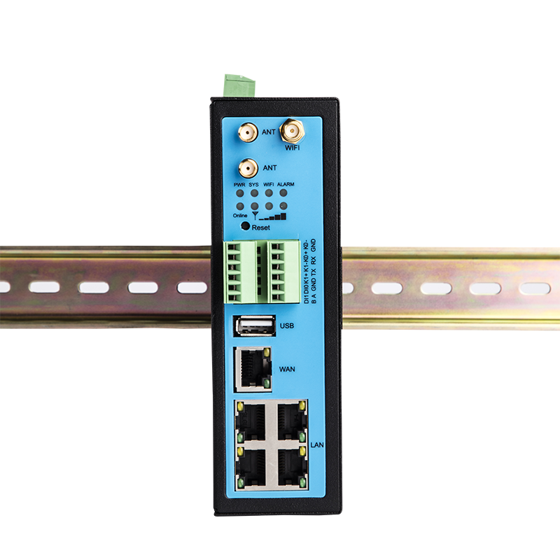 TG451 with sim slot Din rail support VPN TCP/IP Industrial Cellular LTE 4G gateway router with IO wifi